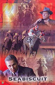Seabiscuit (2003) Horse Racing Collage Poster - Scorpio Posters 2003
