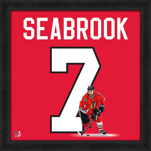 "Brent Seabrook ""Number 7"" Chicago Blackhawks FRAMED 20x20 UNIFRAME PRINT - Photofile"