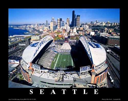 "Seattle Seahawks CenturyLink Field ""From Above"" Premium Poster Print - Aerial Views"
