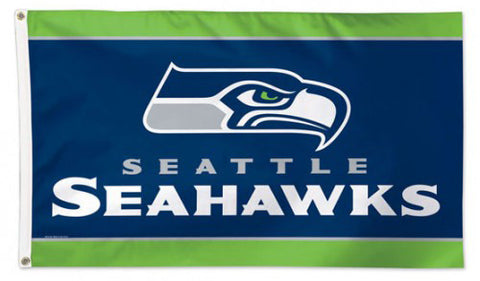 Seattle Seahawks Official NFL Football Team Logo Deluxe 3' x 5' Flag - Wincraft Inc.
