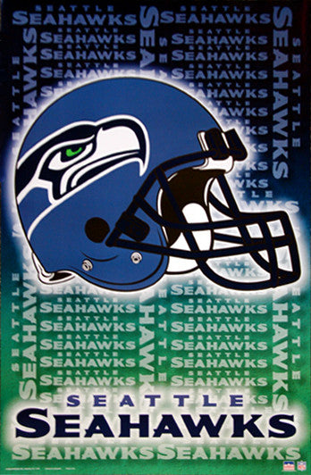 Seattle Seahawks Official NFL Football Helmet Logo Poster - Starline Inc.
