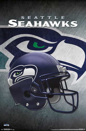 Seattle Seahawks Official NFL Football Team Helmet Logo Poster - Trends International