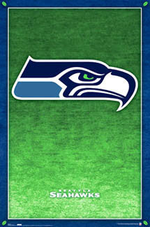 Seattle Seahawks Official NFL Football Team Logo Poster - Costacos Sports