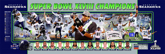 "Seattle Seahawks ""Super Bowl Storyline"" (2014) Premium Photoramic Poster Print - Photofile Inc."