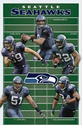 "Seattle Seahawks ""Gridiron Five"" (2010) Poster - Costacos Sports"