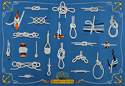 Seamen's Knots for Yachting and Sailing Wall Chart Poster - Eurographics Inc.