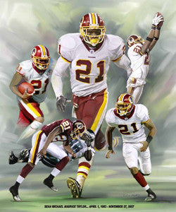Sean Taylor (1983-2007) Washington Redskins Commemorative Poster Print - Wishum Gregory