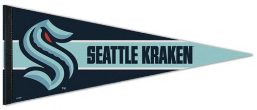Seattle Kraken Official NHL Hockey Team Logo Premium Felt Pennant - Wincraft Inc.