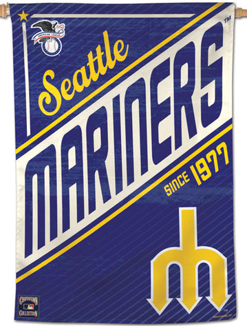 "Seattle Mariners ""1977"" Cooperstown Collection Premium 28x40 Wall Banner - Wincraft Inc."