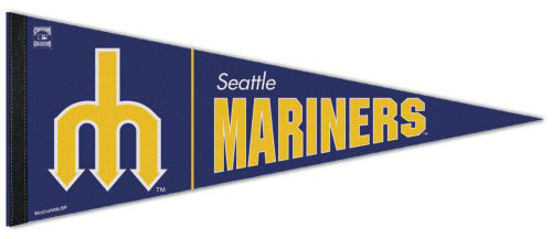 Seattle Mariners Retro 1970s-Style MLB Coooperstown Collection Premium Felt Pennant - Wincraft