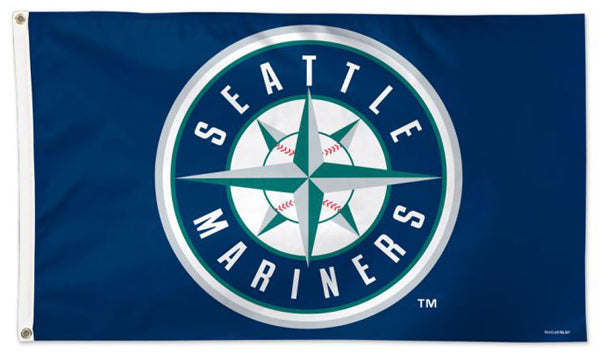 Seattle Mariners Round-Logo-Style Official MLB Baseball Deluxe-Edition 3'x5' Flag - Wincraft