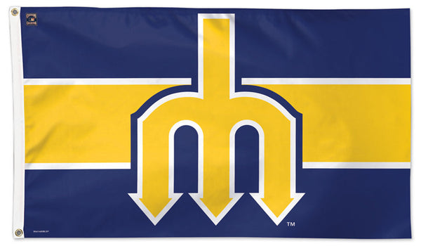 "Seattle Mariners ""Trident"" (1977-80) Cooperstown Collection MLB Baseball Deluxe-Edition 3'x5' Flag - Wincraft"