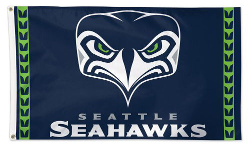 "Seattle Seahawks ""Angry Bird"" Style Official NFL Football Team Logo Deluxe 3' x 5' Flag - Wincraft Inc."