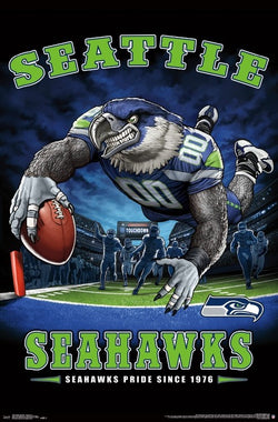 "Seattle Seahawks ""Seahawks Pride Since 1976"" NFL Theme Art Poster - Liquid Blue/Trends Int'l."