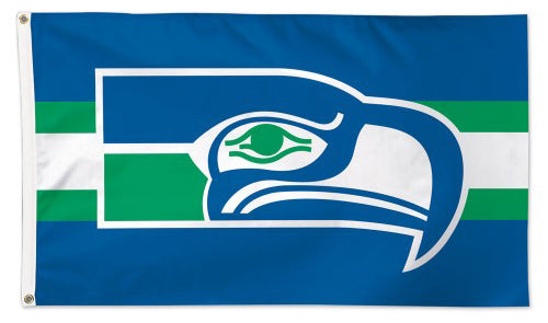 Seattle Seahawks Retro 1970s Style Official NFL Football Team Logo Deluxe 3' x 5' Flag - Wincraft Inc.