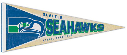 Seattle Seahawks NFL Retro-1970s-Style Premium Felt Collector's Pennant - Wincraft Inc.