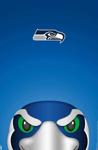 "Seattle Seahawks ""Blitz Style"" NFL Theme Art Poster - S. Preston/Trends Int'l."