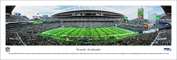 Seattle Seahawks CenturyLink Field Gameday Panoramic Poster Print - Blakeway 2017