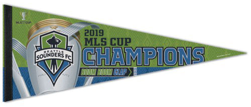 Seattle Sounders 2019 MLS Soccer Champions Premium Felt Commemorative Pennant - Wincraft