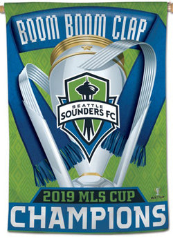 Seattle Sounders 2019 MLS Champions Official Commemorative Wall BANNER - Wincraft Inc.