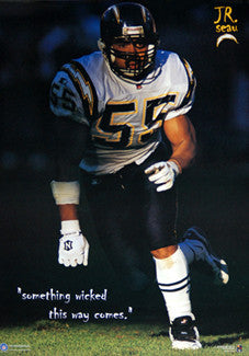 "Junior Seau ""Something Wicked"" (1996) San Diego Chargers Poster - Costacos Brothers"