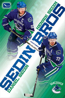 "Henrik and Daniel Sedin ""Brothers"" Vancouver Canucks Poster - Costacos Sports"