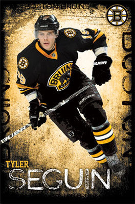 "Tyler Seguin ""Superstar"" Boston Bruins NHL Hockey Action Poster - Costacos 2013"