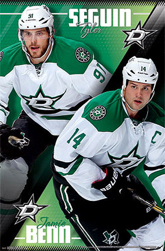 "Tyler Seguin and Jamie Benn ""Superstars"" Dallas Stars NHL Hockey Poster - Costacos 2014"
