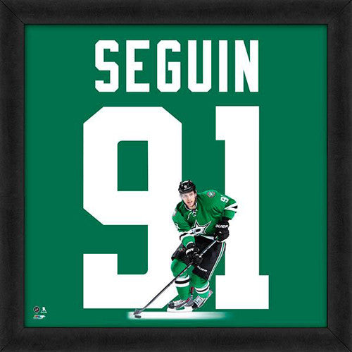 "Tyler Seguin ""Number 91"" Dallas Stars FRAMED 20x20 UNIFRAME PRINT - Photofile"