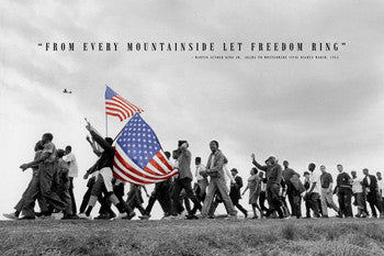 "Civil Rights History ""Let Freedom Ring"" (Selma to Montgomery 1965) Poster - Pyramid Posters"