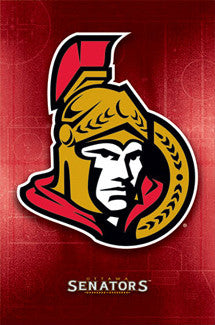 Ottawa Senators Official NHL Hockey Logo Poster - Costacos Sports