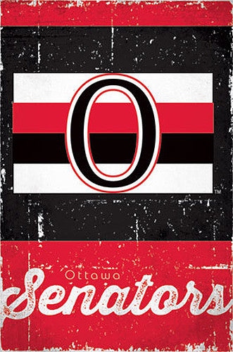 Ottawa Senators Retro-Series NHL Team Logo Poster - Costacos Sports