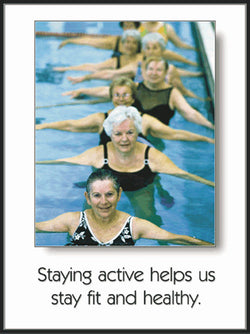 "Seniors Fitness ""Staying Active"" (Aquafit) Poster - Fitnus Corp."
