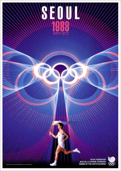 Seoul 1988 Summer Olympic Games Official Poster Reprint - Olympic Museum