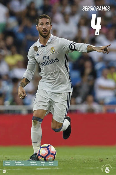 "Sergio Ramos ""Leadership"" Real Madrid CF Football Legend Poster - G.E. (Spain)"