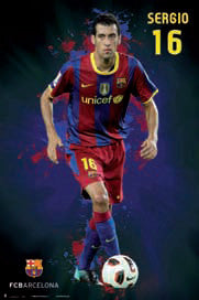 "Sergio Busquets ""SuperAction"" FC Barcelona Soccer Poster - G.E. (Spain)"