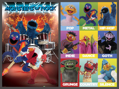 "Sesame Street ""Rock-and-Roll"" 2-Poster Combo - Pyramid Posters"