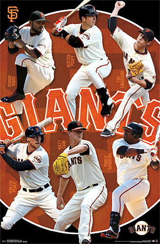 San Francisco Giants Superstars 2014 Poster (Romo, Posey, Cain, Sandoval, Lincecum, Pence)