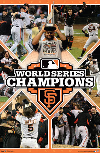 "San Francisco Giants 2012 World Series ""CELEBRATION"" Commemorative Poster"