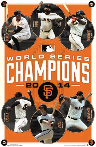 San Francisco Giants 2014 World Series Champions Commemorative Poster - Costacos Sports