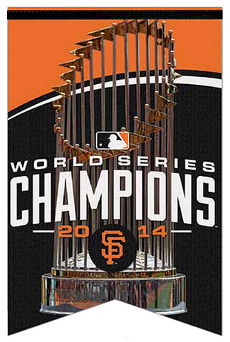 San Francisco Giants 2014 World Series Champions Premium Felt BANNER