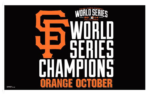 San Francisco Giants 2014 World Series Champs Official MLB 3'x5' Flag - Wincraft