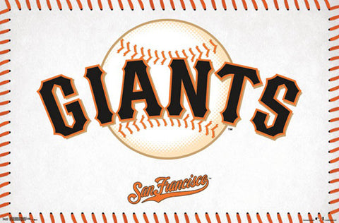 San Francisco Giants Official MLB Baseball Team Logo Poster - Trends International