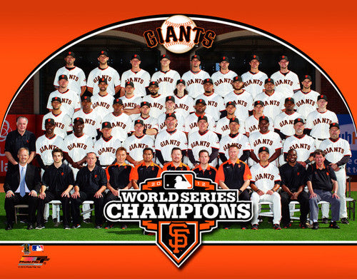 San Francisco Giants 2012 World Series Team Portrait - Photofile 16x20 Premium Print