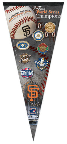 San Francisco Giants 7-Time World Series Champs Extra-Large Premium Felt Pennant - Wincraft