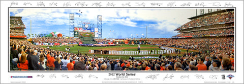 San Francisco Giants 2012 World Series AT&T Park Panoramic Poster Print (w/26 Signatures) - Everlasting Images