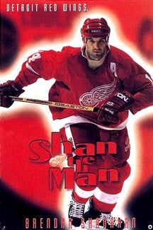 "Brendan Shanahan ""Shan the Man"" Detroit Red Wings Poster - Costacos 1997"