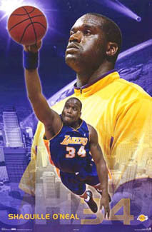 "Shaquille O'Neal ""Farewell L.A."" Los Angeles Lakers Poster - Costacos 2004"