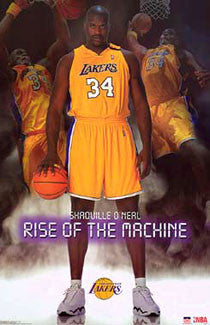 "Shaquille O'Neal ""Rise of the Machine"" Los Angeles Lakers Poster - Starline 2003"