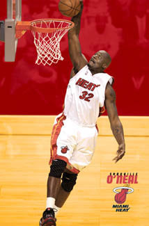 "Shaquille O'Neal ""Miami Slam"" Miami Heat NBA Action Poster - Costacos 2005"